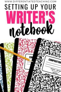 Setting Up Writers Notebook