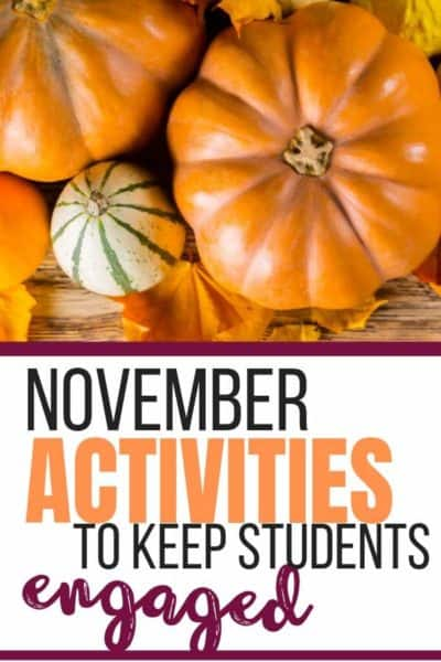November Lesson Ideas to Keep STudents Engaged