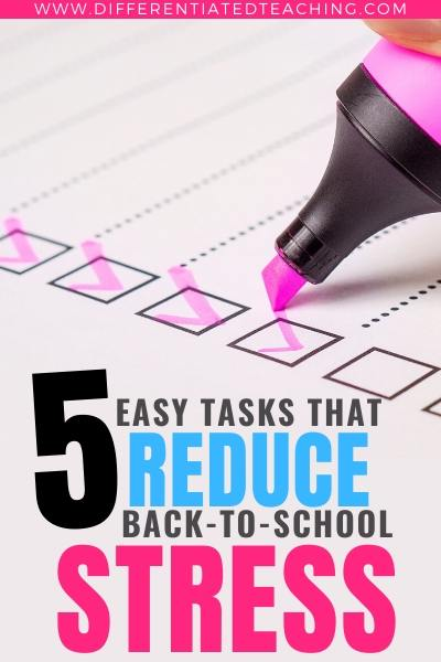 5 Ways to Reduce Back-to-School Stress - Things to do at the end of the year to smooth things out for next year.