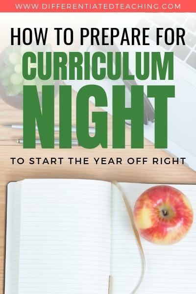 How to prepare for curriculum night