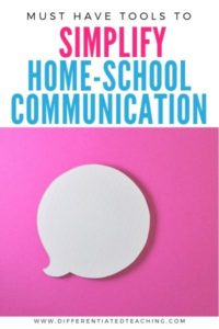how to organize home-school communication with easy to use tools