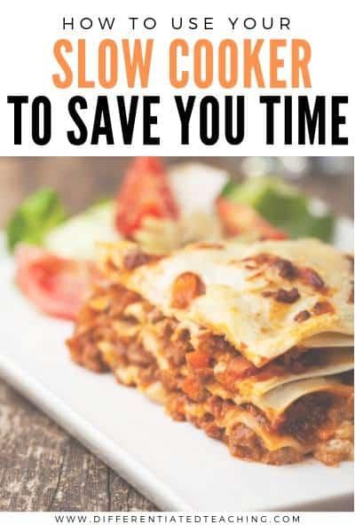 Simple Crockpot lasagna for busy teachers