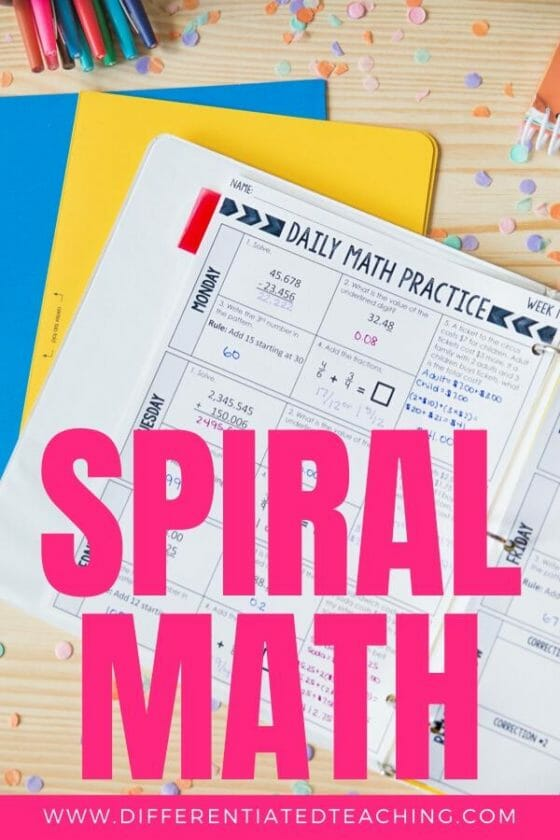 Math Spiral Review for Elementary Students