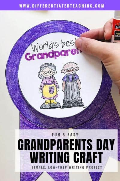 Easy Grandparents Day Writing Craft Activity