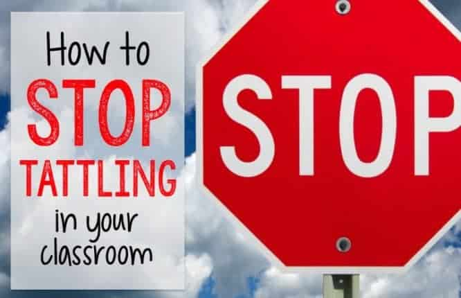 How to Stop Tattling