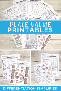 Differentiated Place value worksheets - the third wheel