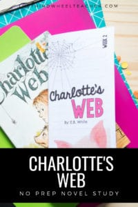 This engaging novel study for Charlotte's Web will build reading comprehension skills and vocabulary in a fun, easy-to-implement format. The no prep format makes this the perfect tool for busy teachers.