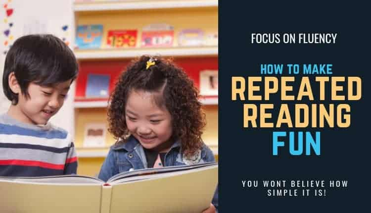 Repeated reading is a well-documented intervention for poor reading fluency. However, it is boring for kids. Find out how I make repeated reading fun and engaging to help my students build their reading fluency. Grab a free resource to help!