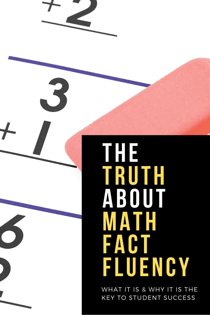 teaching math fact fluency