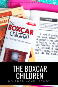 The Boxcar Children Novel Study by The Third Wheel Teacher