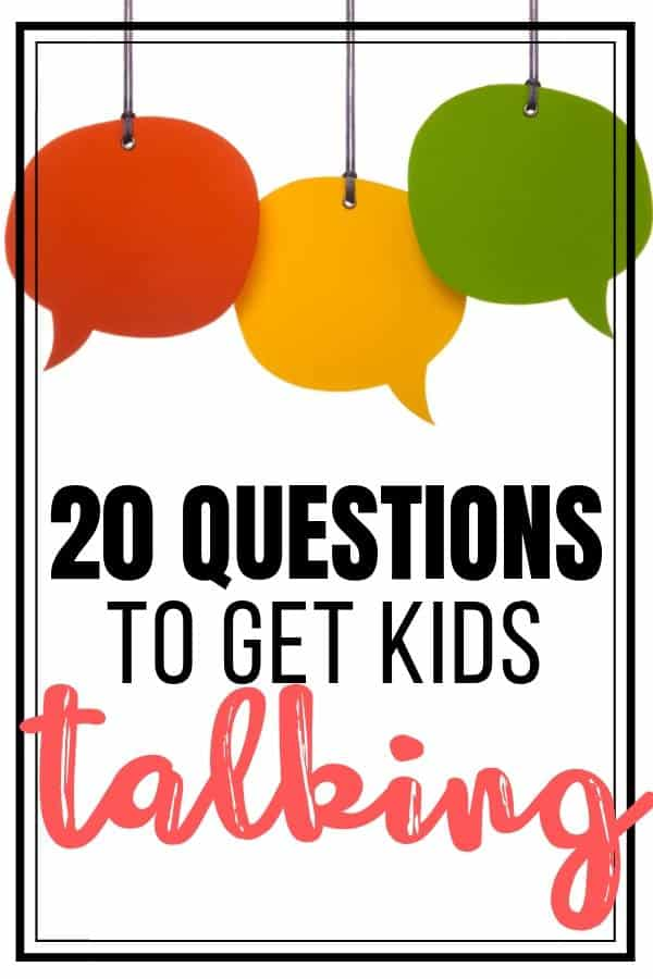 20 Questions to get kids talking - simple ways to build relationships with students