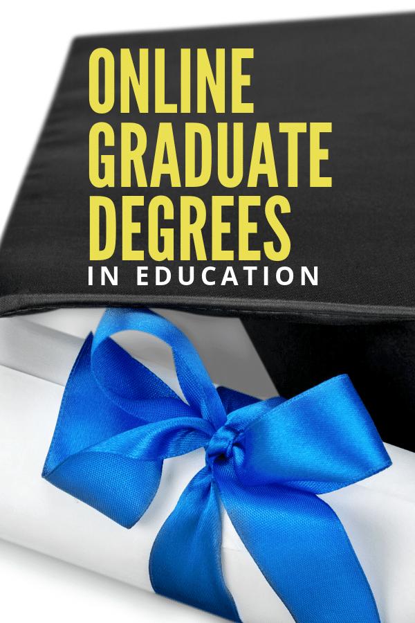 Online graduate degrees in education for teachers