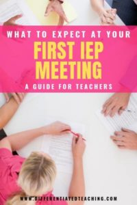 What to Expect at your first IEP meeting as a teacher