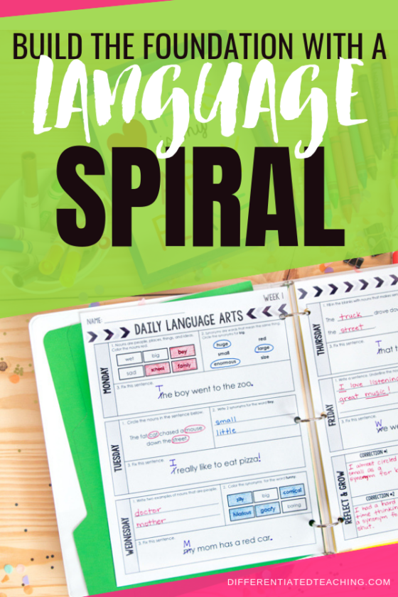 Daily Language Spiral to build grammar and language skills