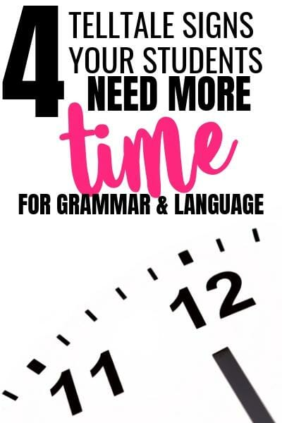 Wondering if your students need more time on grammar and language? These four signs can help you determine if you need to spend more time teaching grammar and language skills. Get tips on how to get started.