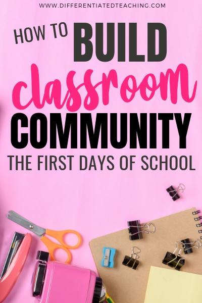 Easy activities to help build classroom community during the first days of the new school year.