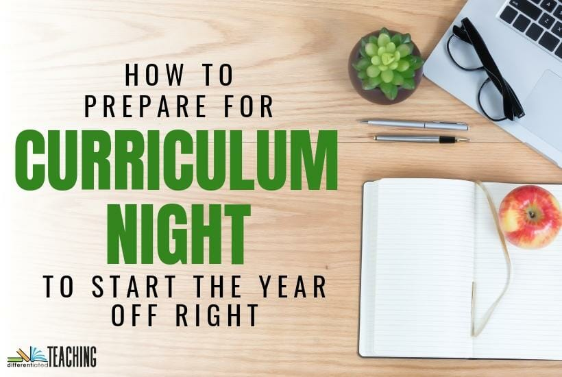 How to prepare for Curriculum Night at your school