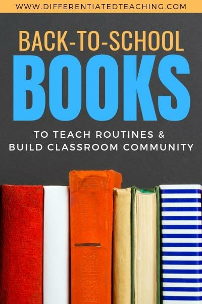 26 back to school books to help you get your year started - these books focus on classroom rules and procedures and building a strong classroom community from day 1. Sign up for a free activity to help your students get to know one another, too!