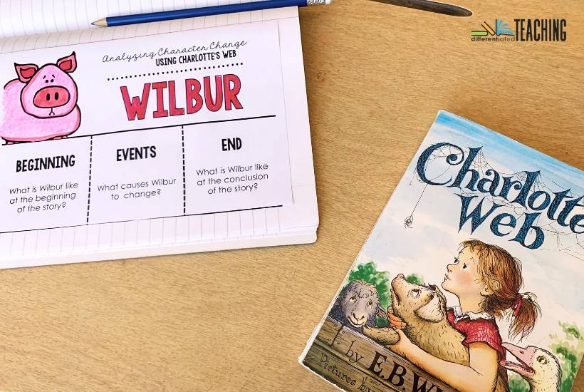 Free flipbook for analyzing character change in Wilbur from Charlotte's Web