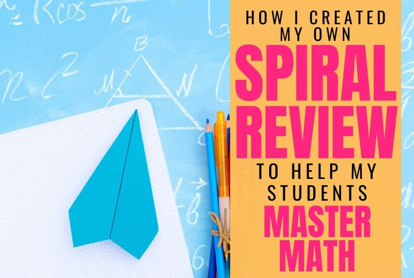 Designing Math Spiral Review
