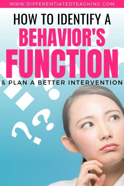 How to identify the functions of behavior