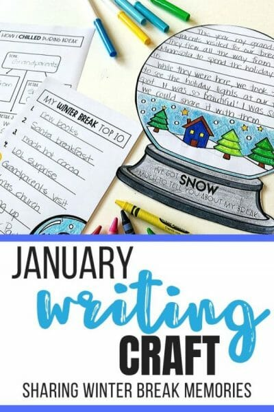 Winter Break Writing Craft for January Bulletin Board