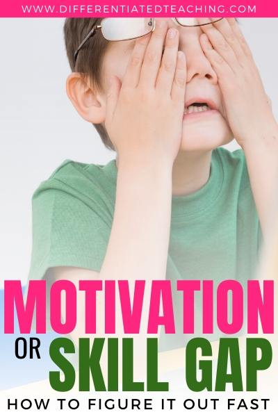 Identifying whether behavior issues are motivation or a skill gap