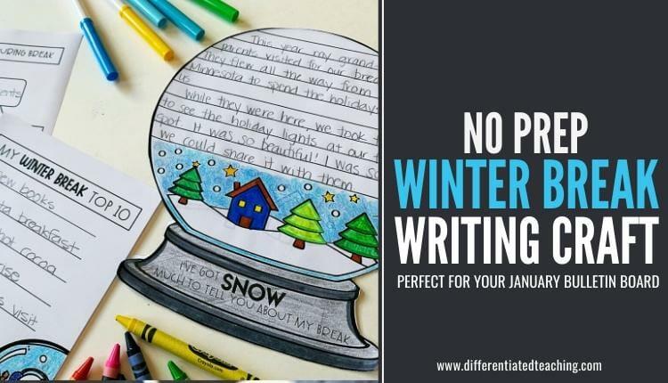 January Writing Craft - Winter Break Writing