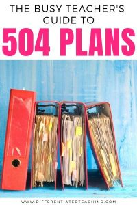 A teacher's guide to understanding 504 plan paperwork