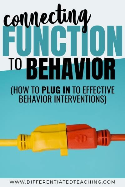 connect function to behavior intervention