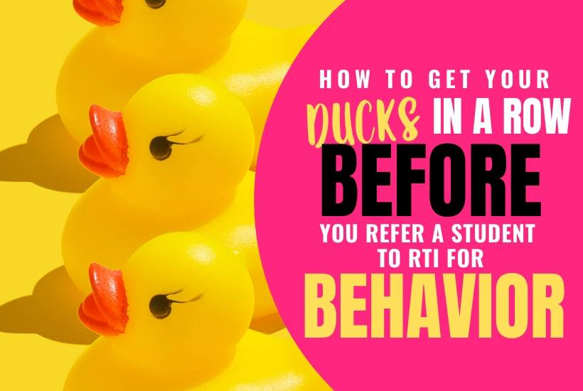 4 things to do BEFORE you refer a student for behavior intervention
