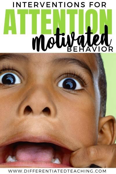 intervention strategies for attention seeking behaviors