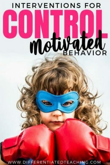 intervention for control motivated behaviors