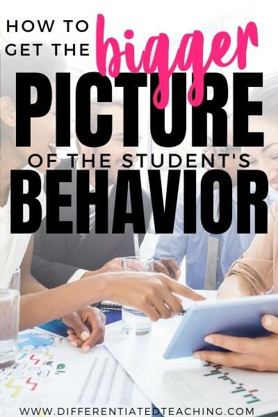 Connect with colleagues to see how challenging behaviors look across the school