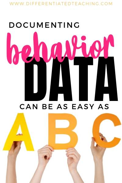 Documenting the ABCs of Behavior - Antecedents, Behavior, Consequences
