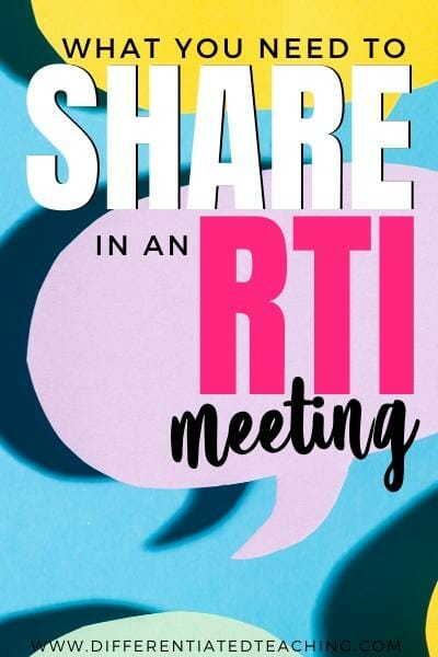What you need to bring to an RTI meeting