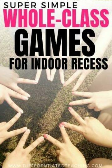whole class indoor recess games