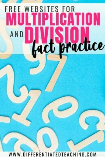 Free Websites for Multiplication and Division Math Fact Games