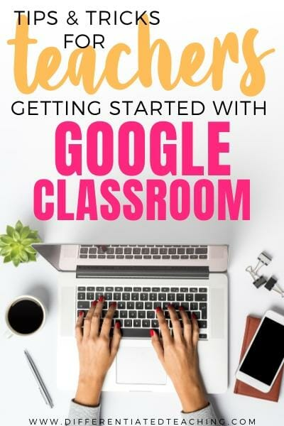 Teacher working in Google Classroom
