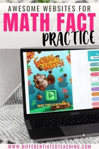 Websites for Math Fact Practice