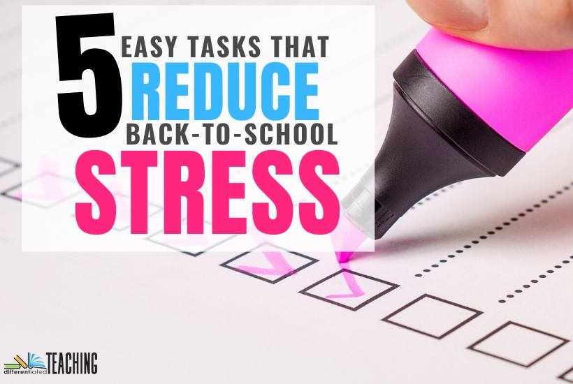 5 Easy Tasks to Reduce Back-to-School Stress