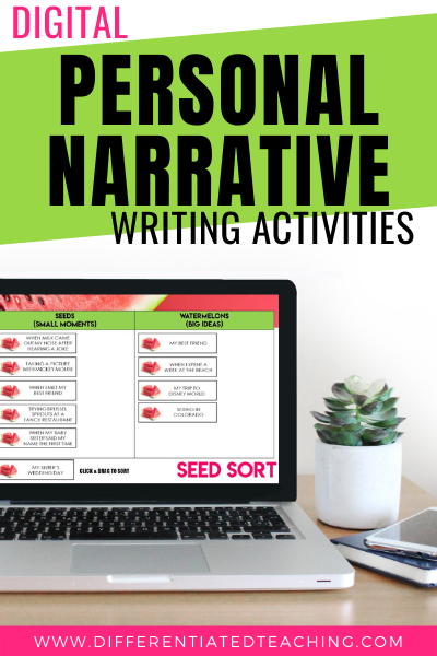 Digital Personal Narrative Writing Activities