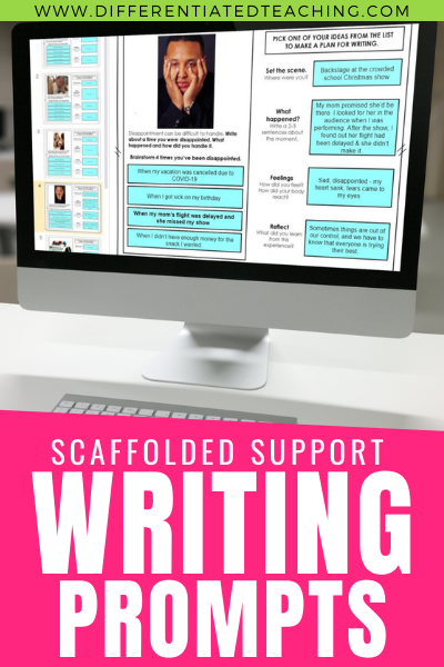 Digital Personal Narrative Writing Prompts with Scaffolded Support to Differentiate for Struggling Writers