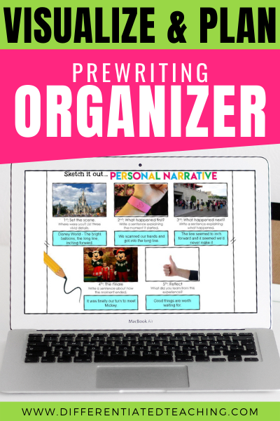 Digital Pre-Writing Organizer Personal Narrative Writing