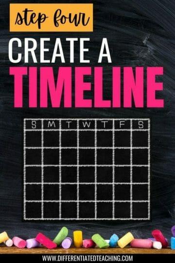 NOVEL STUDY PLANNING STEP FOUR CREATE YOUR TIMELINE USING CALENDAR