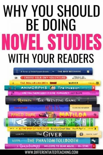 WHY YOU SHOULD BE DOING NOVEL STUDIES