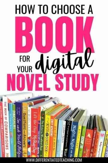 CHOOSING BOOKS FOR DIGITAL NOVEL STUDIES