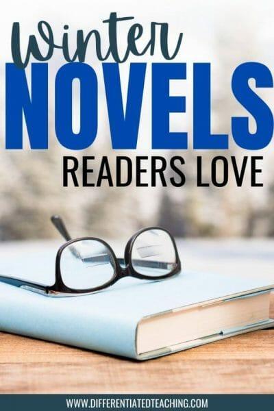 winter novel with glasses