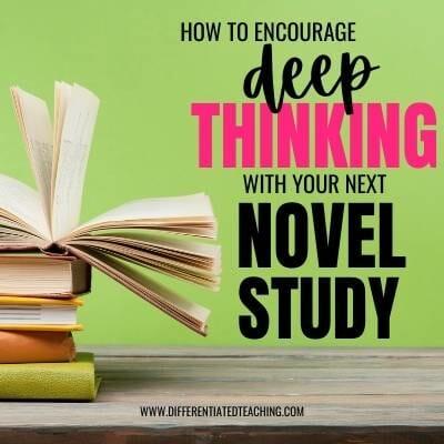 Deep thinking with novel studies