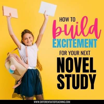 excited kid for novel study